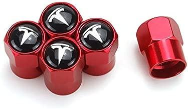 TK-KLZ 5Pcs Car Wheel Tires Valve Stem Caps for Tesla Roadster Model S Model X Model 3 TESLASUV Decorative Accessories