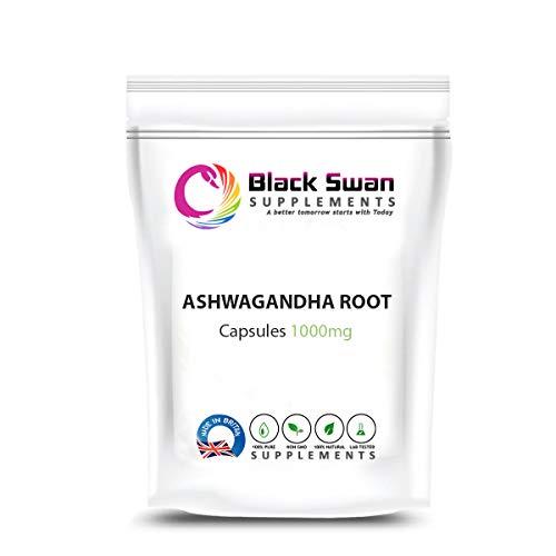 Black Swan Ashwagandha Root 1000mg Capsules – with Anti- inflammatory – Healthy Skin – Healthy Joint – Digestive Systemc (30 Caps)