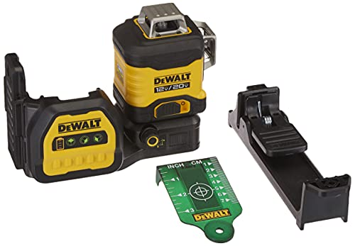 DEWALT DCLE34030G-QU PREMIUM 3 x 360 20V GREEN LASER WITH BATTERY AND CHARGER