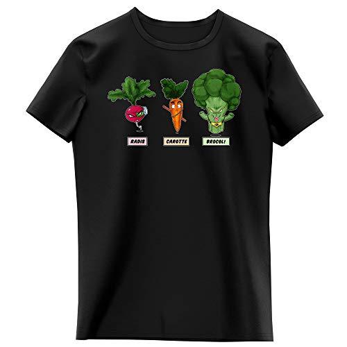 T-shirt Enfant Fille Noir parodie Dragon Ball Z - DBZ - Sangoku, Broly et Raditz - Super Héros de la Planète Végétale (T-shirt enfant de qualité premium de taille 13-14 ans - imprimé en France)