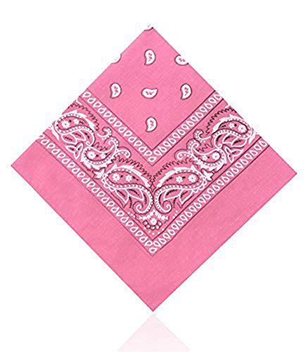 Plain & Paisley Bandanas by Hats of London (Baby Pink)