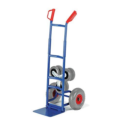 Rollcart 20-9854 Klapp-Treppenkarre Wechselräder, RAL5010 enzianblau