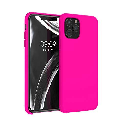 kwmobile Hülle kompatibel mit Apple iPhone 11 Pro - Hülle Handyhülle gummiert - Handy Hülle in Neon Pink