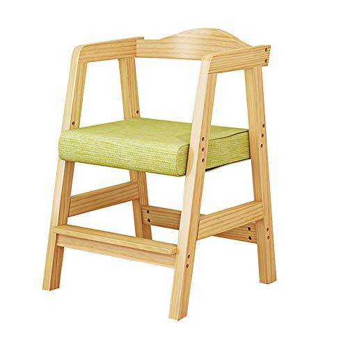 Chaises de Bureau pour Enfants Chaise d'étude pour Enfants/Chaises/Fauteuil/Siège, Position correcte/Anti-myopie/Bosse/Hauteur Ajustable, en Bois, pour Maison/Table d'ordinateur/sal