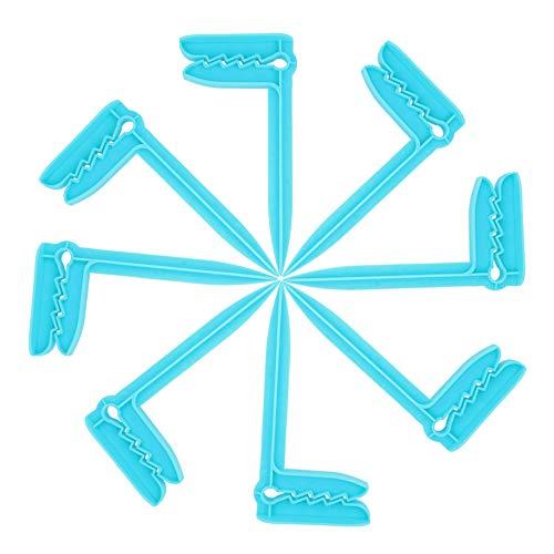 Gobesty Clips de Toallas de Playa, 8 Piezas de Toallas de Playa, Mantas, Picnic, Sujetadores fijados para hamacas, Azul