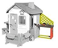 smoby - modulo cucina per casette jura lodge e my neo house, con area barbecue, lavello e 17 accessori, + 2 anni, 7600810901