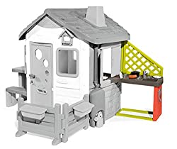 Ideal addition – a real house should not be missing. The play kitchen fits perfectly with many Smoby playhouses (see description) and provides great fun with lots of accessories For small master chefs – whether rinse dishes, grill sausages on the gri...