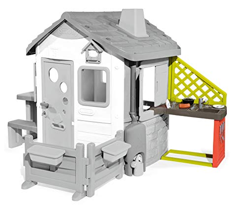 Smoby - Modulo Cucina per Casette Jura Lodge e My Neo House, con Area Barbecue, Lavello e 17 Accessori, + 2 Anni, 7600810901