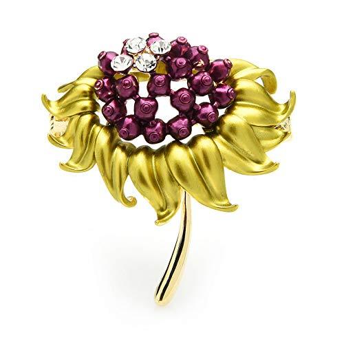 CLEARNICE Sonnenblumenkerne Broschen Frauen Emaille Blume Hochzeiten Party Büro Brosche Pins Geschenke