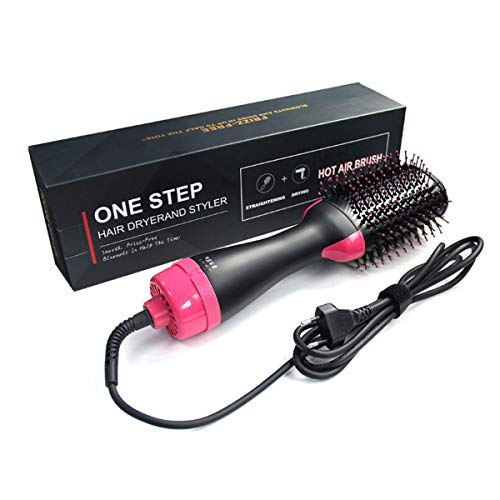 Secador de pelo, cepillo de aire caliente 4 en 1, cepillo multifuncional para secador de pelo, cepillo para secador de pelo, peineta de aire caliente para todos los tipos de cabello