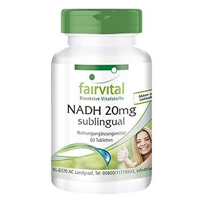 NADH 20mg sublingual - Vegan - 60 Tablets