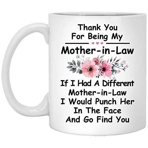 NA Gracias por ser la Taza Blanca de cerámica de café de mi Suegra, significativo para la Madre.