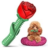ucho Dog Chew Toy - Puppy Toy Durable Chew Toys for Medium Dogs, Enchanted Rose Dog Toy Gift for Mothers Day, Christmas Day, Dogs' Birthday, Valentine's Day