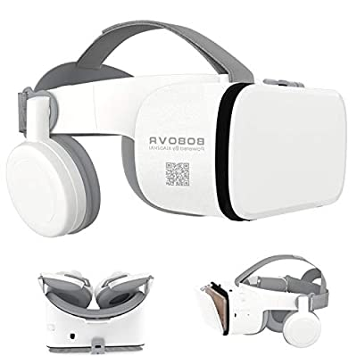 "3D Virtual Reality Headset, 3D VR Glasses Viewer with Built-in Remote [Bluetooth] for iOS iPhone 12 11 Pro Max Mini X R S 8 7 Samsung Galaxy S10 S9 S8 S7 Edge Note/A 10 9 8 + Other 4.7-6.2"" Cellphone"
