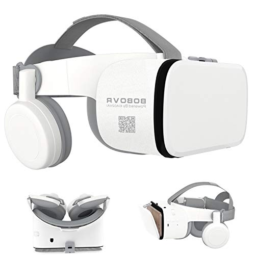 """3D Virtual Reality Headset, 3D VR Glasses Viewer with Built-in Remote [Bluetooth] for iOS iPhone 12 11 Pro Max Mini X R S 8 7 Samsung Galaxy S10 S9 S8 S7 Edge Note/A 10 9 8 + Other 4.7-6.2"""" Cellphone"""