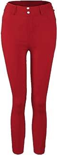 ZEFOTIM Women Palazzo High Waist Wide Leg Culottes Cotton Linen Trousers Loose Pants