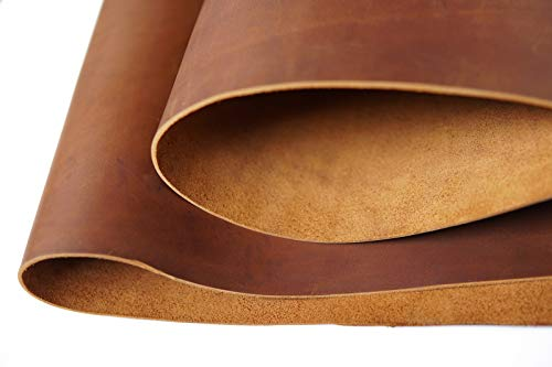 Bourbon Brown Tooling Leather Square 2.0mm Thick Finished Full Grain Cow Hide Leather Crafts Tooling Sewing Hobby...