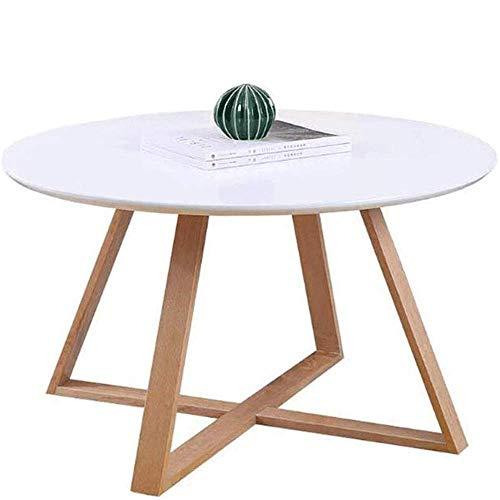 N/Z Tägliche Ausrüstung Nachttisch Beistelltisch für Wohnzimmer/Schlafzimmer Kleine Couchtisch-Tische Runde Retro MDF Side End Center Coffee Dining Moderner Beistelltisch Weiß