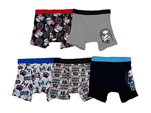 STAR WARS Disney Big Boy's Episode 7 5 Pack Boxer Brief Underwear, Episode 7 Assorted Prints, 6