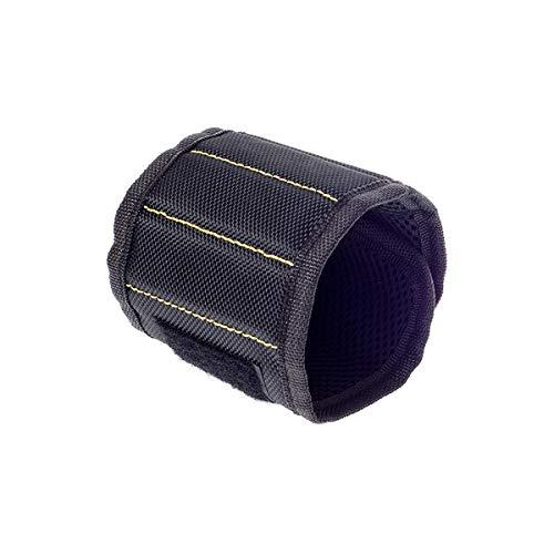 Magnetische Polsband, Krachtige Magnetische Gereedschap Polsband Grote Gereedschap Gift Gadget voor DIY Timmerlieden Elektriciens Mechanica en Bouwers (Zwart)