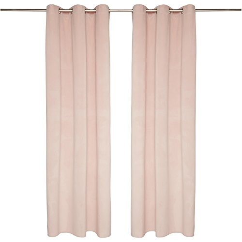 TOM TAILOR T-French Velvet Ösenschal, Polyester, Rosé, 135 x 245 cm