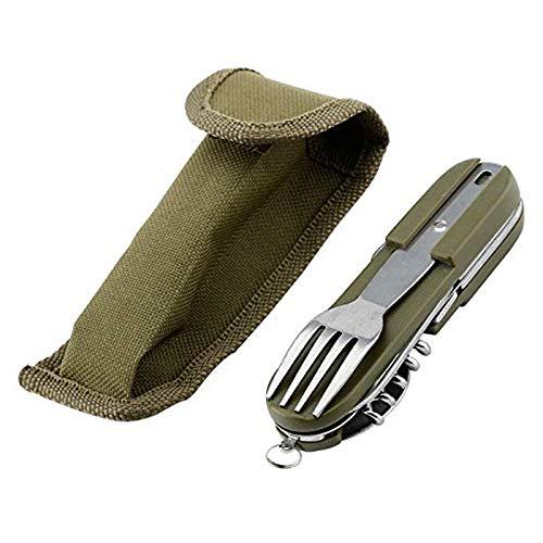 Stainless Steel Kitchen Utensil Set 7-in-1 Folding Tableware