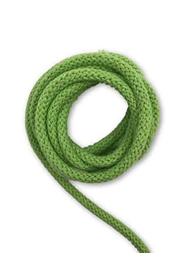 Slantastoffe 5m Baumwollkordel 5mm, Kordel, Schnur, Turnbeutel, 21 Farben (Grün)