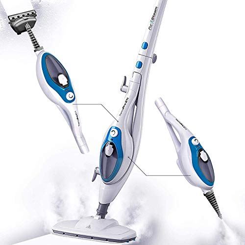 Steam Mop Cleaner ThermaPro 10-in-1 with Convenient Detachable Handheld Unit, Laminate/Hardwood/Tiles/Carpet Kitchen - Garment - Clothes - Pet Friendly Steamer Whole House Multipurpose Use by PurSteam