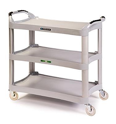 "Lakeside 2510 Plastic Utility Cart; 500 Lb Capacity, 3 Shelf, 16-3/4""X29-1/2"" - Light Grey"