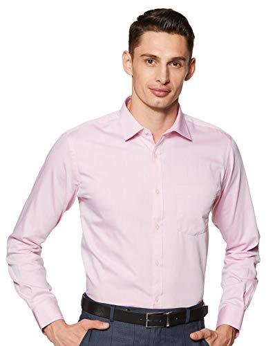 Park Avenue Men's Solid Slim fit Formal Shirt (PMSX12274-R5_Medium Red 39)