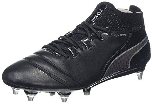 PUMA Herren ONE 17.1 Mx SG Fußballschuhe, Schwarz (Black-Black-Silver), 39 EU