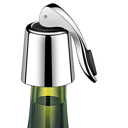 Vinflaska Stoppar Rostfritt stål, Expanderande stopp, återanvändbar vinbesparare, flasksätare håller vin fräscha, bästa presentillbehör 2 pack