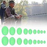 Keenso 900 Piezas de Cuentas de Pesca, líneas de Pesca de plástico Luminoso, señuelos de Pesca para Agua Salada, Kit de Agua Dulce