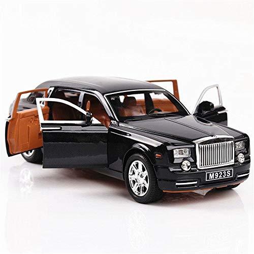 YuYzHanG Coche De Juguete Alargado Cohes Coche Fundido a Troquel de la aleación Rolls-Royce Phantom vehículos del Juguete 01:24 Niños