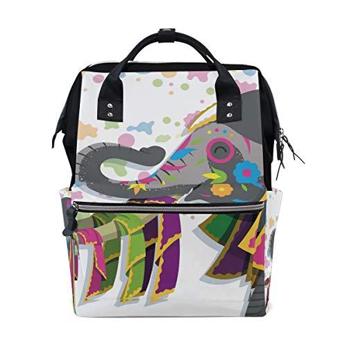Kleurrijke Olifant Leuke Luier Baby Tas Rugzak voor Moeder Vrouwen Nappy Tas Multi-Functie Rugzak Travel School College Groot
