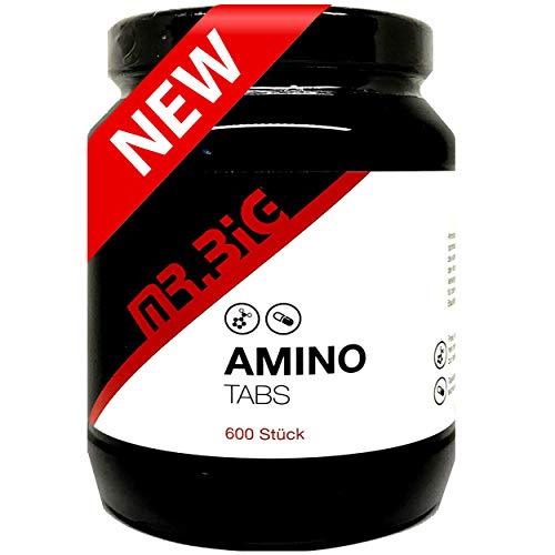mr.BIG - AMINO 600 Tabletten (a 1600mg) - 18 verzweigte Aminosäuren für Muskelaufbau und Muskelerhalt - Perfekt geeignet für Kraftsport | Bodybuilding | Fitness | Diät