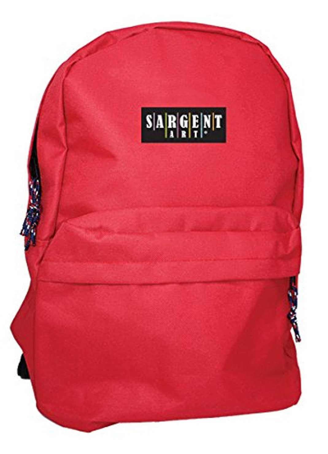 Sargent Art 98-5013 Economy Backpack, Red with Black Zippers/Trim