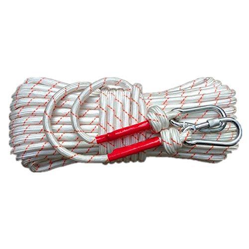 Corda da ausiliaria per Arrampicata Lunghezza 20m*Ø1,2cm*2,5mm Nylon in Filo di Acciaio Corda da Arrampicata