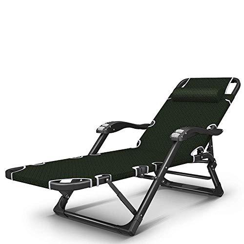 H-BEI Home Leisure Chair Lounge Chair Poltrone da Massaggio Ufficio Siesta Bed Sdraio da Spiaggia Sedia da Giardino Pieghevole Lettino da Sole