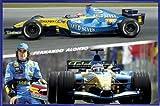 1art1 Formel 1 Poster und Kunststoff-Rahmen - Fernando