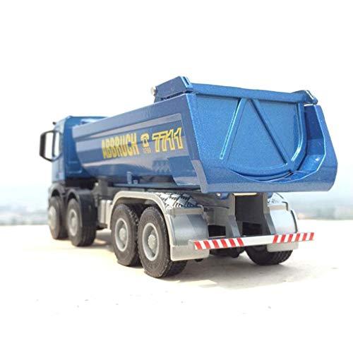 Siyushop Modelo De Juguete De Camión, Escala 1:50 Modelo De Aleación De Camión De Transporte Molde, Juguete De Camión Volquete - para Niños Pequeños Artículos para Fiestas De Cumpleaños (Azul