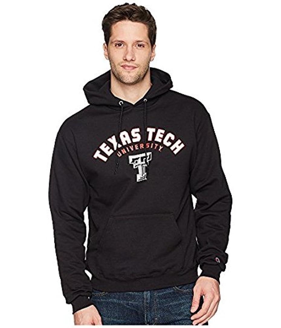 からかうキャンプはげチャンピオンカレッジ Champion College メンズ パーカー スウェット Black Texas Tech Red Raiders Eco Powerblend Hoodie 2 [並行輸入品]