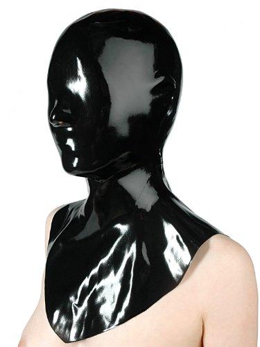 Fetisso - 1130 - geschlossene Latexmaske, Latex Maske - geschlossen Gummimaske Latexhaube Gesichtsmaske Vollmaske Latex Maske, Farbe:Schwarz, Größe:M