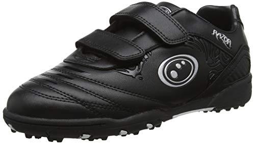 OPTIMUM Unisex-Kinder Razor Easy Fastening Astro Trainers Fußballschuhe, Silber (Black/Silver Black/Silver), 35 EU