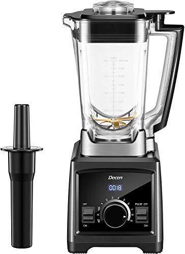 Standmixer, Decen 2000W Mixer Smoothie Maker, 35.000 U/min, 2L Tritan-Behälter ohne BPA, 9 Geschwindigkeiten, Selbstreinigung und Puls-Funktion [Energieklasse A+++]