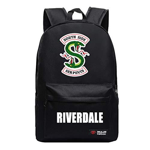 APHT Unisex Riverdale Rucksack mit USB Ladeanschluss Southside Serpents Druck Rucksack Frauen Damen Schulrucksack Kinder Laptop Rucksack Männer Laptoprucksäcke