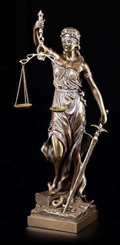 Unbekannt Große Justitia Figur 50 cm bronziert - Veronese Geschenk Anwalt Deko Statue