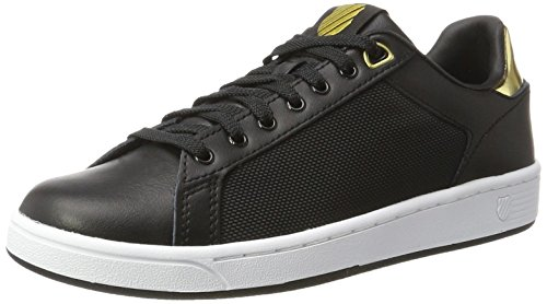 K-Swiss Clean Court Cmf, Zapatillas Para Mujer, Negro (Black/White/Gold 099), 37 EU
