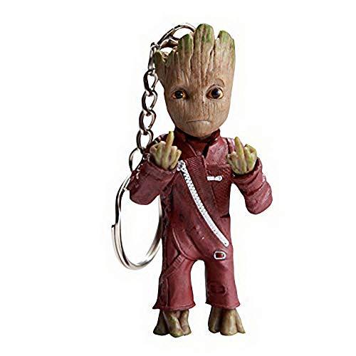 thematys® Baby Groot Schlüsselanhänger Schlüsselbund Keyring Keychain Metall Dekoration Merchandise - Action-Figur aus dem Filmklassiker I AM Groot (Style001)