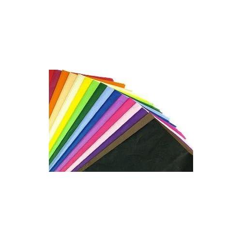 ORANGE QUALITY COLOURED TISSUE PAPER ACID FREE 750mm x 500mm PACK OF 25